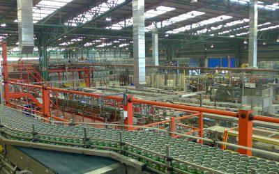 Climatización evaporativa en nave industrial, sector alimentación