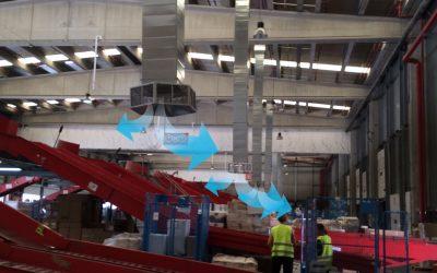Climatización evaporativa de nave industrial, papel y cartón